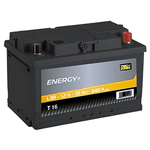 batterie tech power 12v 72ah 640en t16