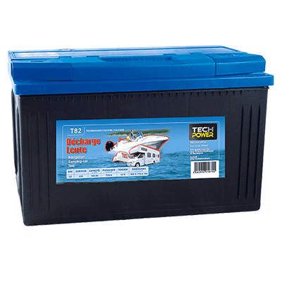 batterie tech power décharge lente 12v 100a + d 720 en t82
