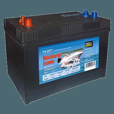batterie tech power décharge lente 12v 110a + d 680 en t83dt