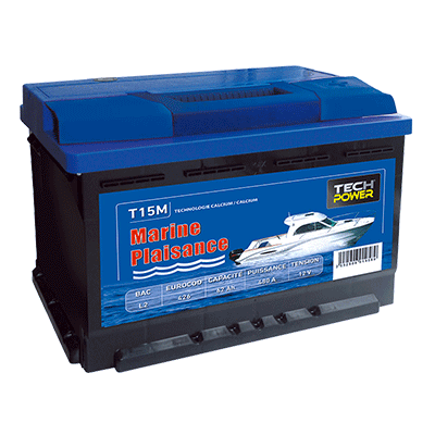 batterie tech power MARINE 12v 62a + d 540 en T15M