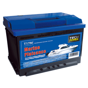 batterie tech power MARINE 12v 72a + d 640 en T17M