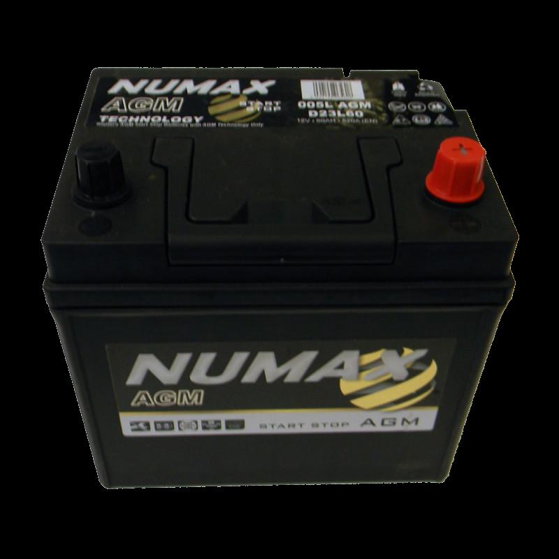 BATTERIE NUMAX AGM (005LAGM)<br>12 V 60 AH 520 (EN)+D
