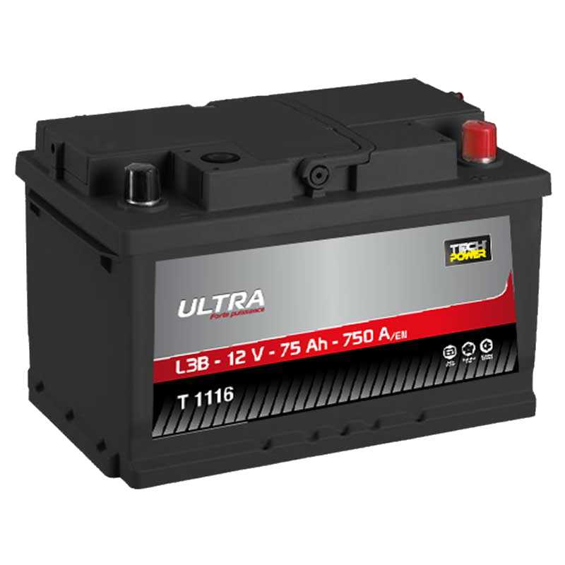 BATTERIE TECH POWER ULTRA (T1116)<br>12 V 75 AH 750 (EN)