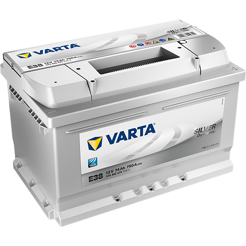 BATTERIE VARTA (E38)12 V 74 AH 750 (EN)