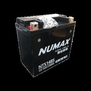 BATTERIE NUMAX MOTO (NTS14BS) AGM 12V 14AH 235 EN +G