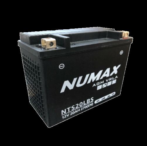 BATTERIE NUMAX MOTO (NTS20LBS) AGM 12V 20AH 270 EN +D