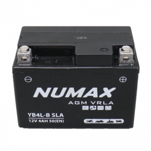 BATTERIE NUMAX MOTO (YB4L-B SLA) AGM 12V 4AH 50EN +G