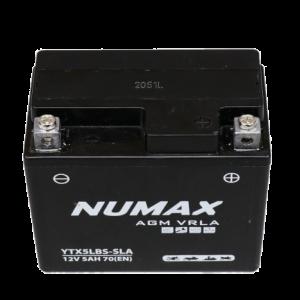 BATTERIE NUMAX MOTO (YTX4L-BS SLA) AGM 12V 3.5AH 50EN +D