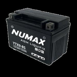 BATTERIE NUMAX MOTO (YTX9-BS SLA) AGM 14V 8AH 135EN +G