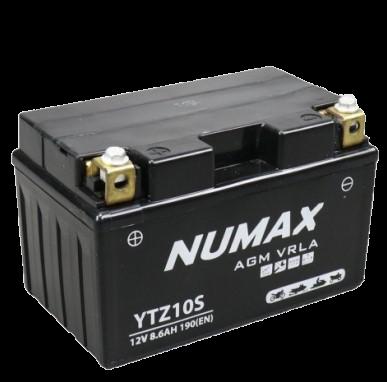 BATTERIE NUMAX MOTO (YTZ10S) AGM 12V 8.6AH 190 EN +G