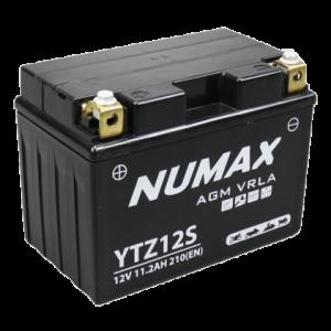 BATTERIE NUMAX MOTO (YTZ12S) AGM 12V 11.2AH 210 EN +G