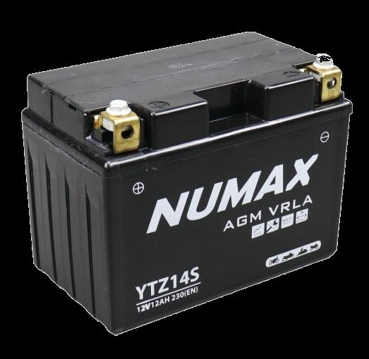 BATTERIE NUMAX MOTO (YTZ14S) AGM 12V 12AH 230 EN +G