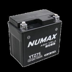 BATTERIE NUMAX MOTO (YTZ7S) AGM 12V 6AH 130 EN +G